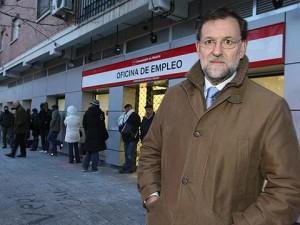 RAJOY ANTE LA OFICINA DEL PARO