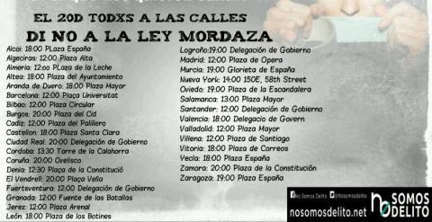 MANIFESTACIONES LEY MORDAZA 20 DE DICIEMBRE DE 2014